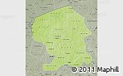 Physical Map of Yatenga, semi-desaturated
