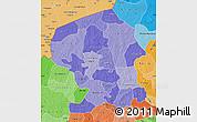 Political Shades Map of Yatenga