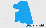 Political Simple Map of Namissiguima, single color outside