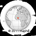 Outline Map of Ouahigouya