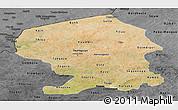 Satellite Panoramic Map of Yatenga, darken, desaturated