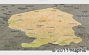 Satellite Panoramic Map of Yatenga, darken, semi-desaturated