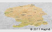 Satellite Panoramic Map of Yatenga, lighten, desaturated