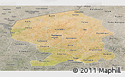 Satellite Panoramic Map of Yatenga, semi-desaturated