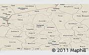Shaded Relief Panoramic Map of Yatenga