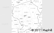 Blank Simple Map of Yatenga