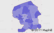 Political Shades Simple Map of Yatenga, cropped outside