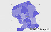 Political Shades Simple Map of Yatenga, single color outside