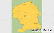 Savanna Style Simple Map of Yatenga, cropped outside