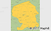 Savanna Style Simple Map of Yatenga