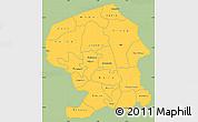 Savanna Style Simple Map of Yatenga, single color outside
