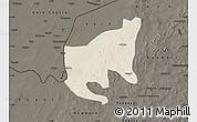 Shaded Relief Map of Thiou, darken
