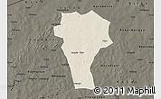 Shaded Relief Map of Titao, darken