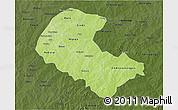 Physical 3D Map of Zoundweogo, darken