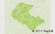 Physical 3D Map of Zoundweogo, lighten