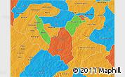 Political 3D Map of Zoundweogo