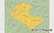 Savanna Style 3D Map of Zoundweogo