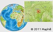 Physical Location Map of Zoundweogo