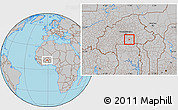Gray Location Map of Manga