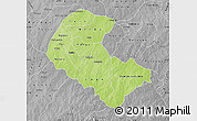 Physical Map of Zoundweogo, desaturated