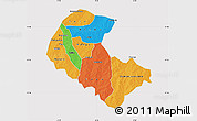 Political Map of Zoundweogo, cropped outside
