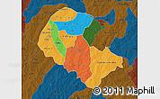 Political Map of Zoundweogo, darken