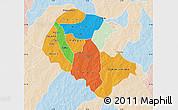 Political Map of Zoundweogo, lighten