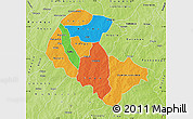 Political Map of Zoundweogo, physical outside