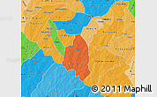 Political Map of Zoundweogo, political shades outside