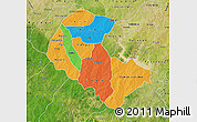 Political Map of Zoundweogo, satellite outside