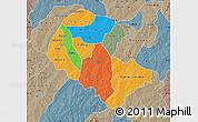 Political Map of Zoundweogo, semi-desaturated