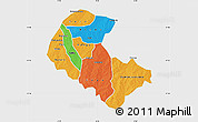 Political Map of Zoundweogo, single color outside