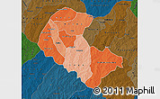 Political Shades Map of Zoundweogo, darken
