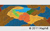 Political Panoramic Map of Zoundweogo, darken