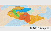 Political Panoramic Map of Zoundweogo, lighten