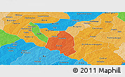 Political Panoramic Map of Zoundweogo, political shades outside
