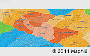 Political Shades Panoramic Map of Zoundweogo