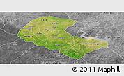 Satellite Panoramic Map of Zoundweogo, desaturated