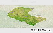 Satellite Panoramic Map of Zoundweogo, lighten