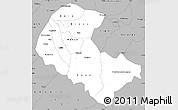 Gray Simple Map of Zoundweogo