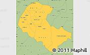 Savanna Style Simple Map of Zoundweogo