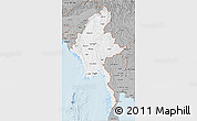 Gray 3D Map of Burma