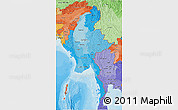 Political Shades 3D Map of Burma