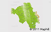 Physical 3D Map of Bago (Pegu), cropped outside