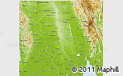 Physical 3D Map of Bago (Pegu)