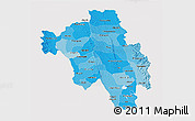 Political Shades 3D Map of Bago (Pegu), cropped outside