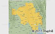 Savanna Style 3D Map of Bago (Pegu)