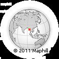 Outline Map of Bago (Pegu)