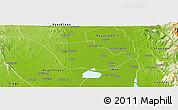 Physical Panoramic Map of Daik-U