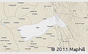 Classic Style 3D Map of Gyobingauk